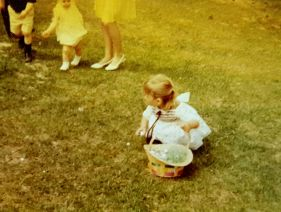 Easter at Grandmother Caldwell's, ca. 1968.