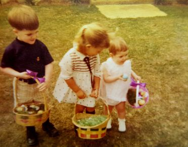 Easter at Grandmother Caldwell's, ca. 1968. Kelly in center