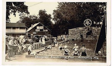 Old postcard of Stony Dell in Arlington, MO..