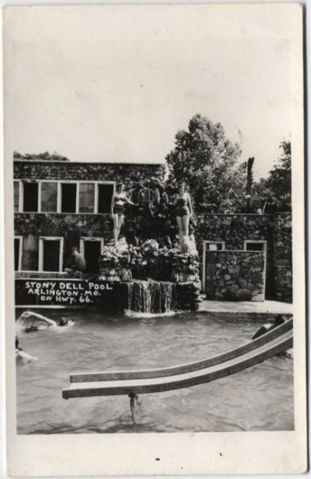 Old postcard of Stony Dell in Arlington, MO..