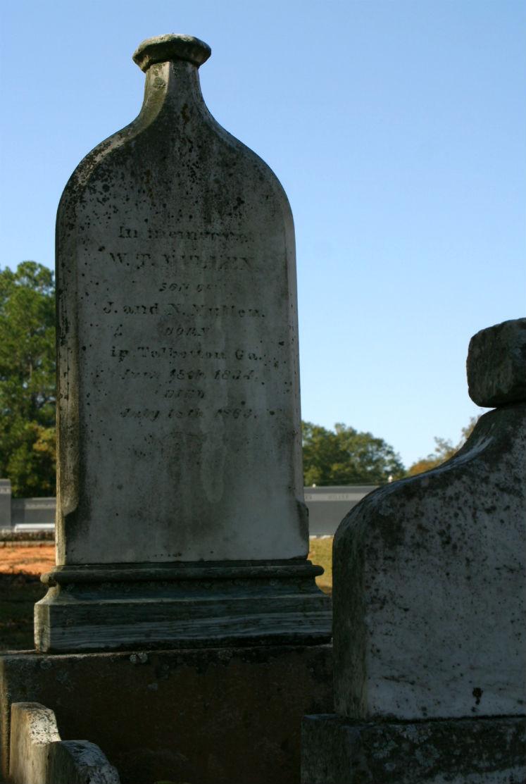 whiskey bottle tombstone