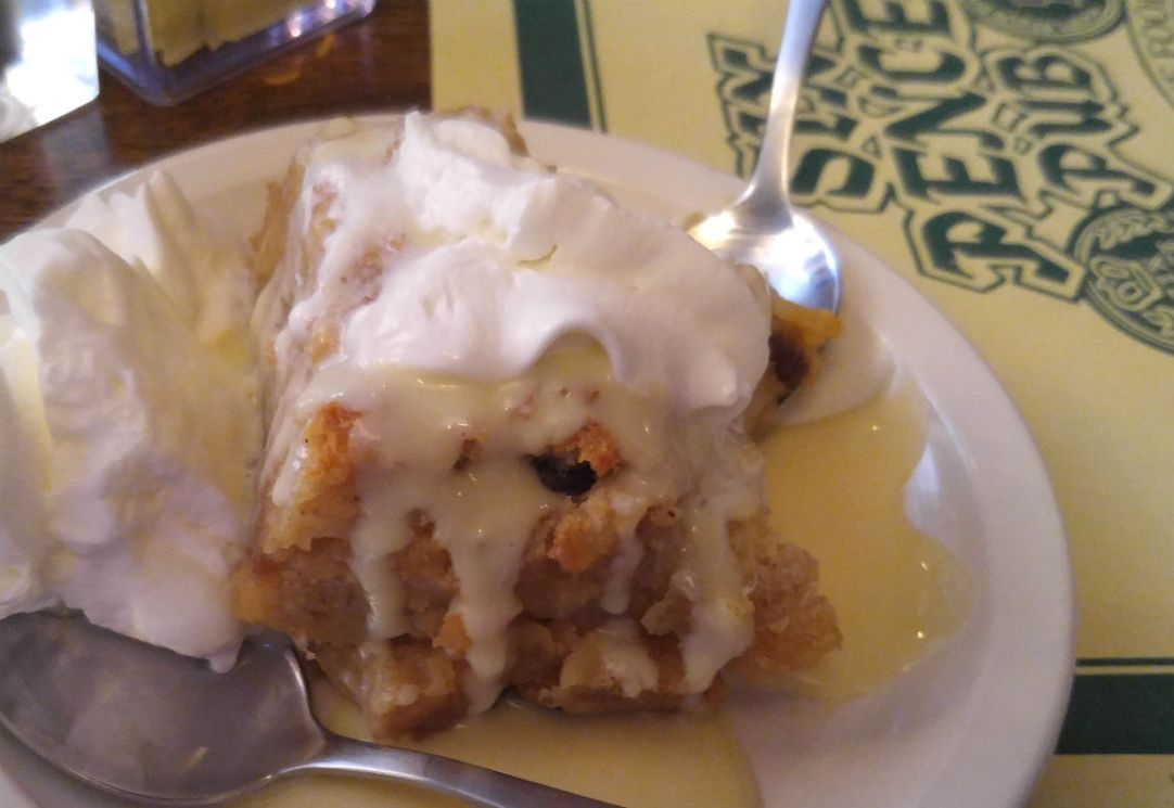 Sweetums and I shared the bread pudding for dessert. Yum. (Photo by Wil Elrick/permission required)