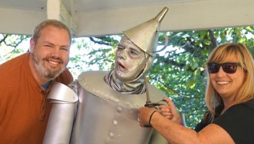 Sweetums and me with the Tin Man.