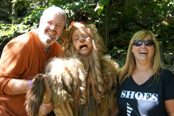 Sweetums and me with the Cowardly Lion.