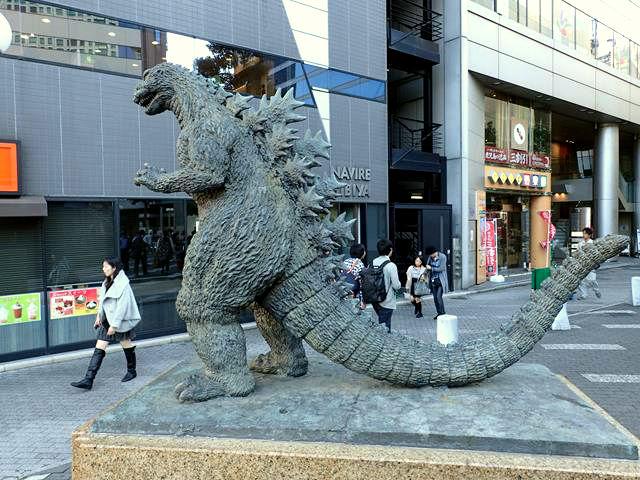godzilla-statue-tokyo Hibiya Square Tokyo