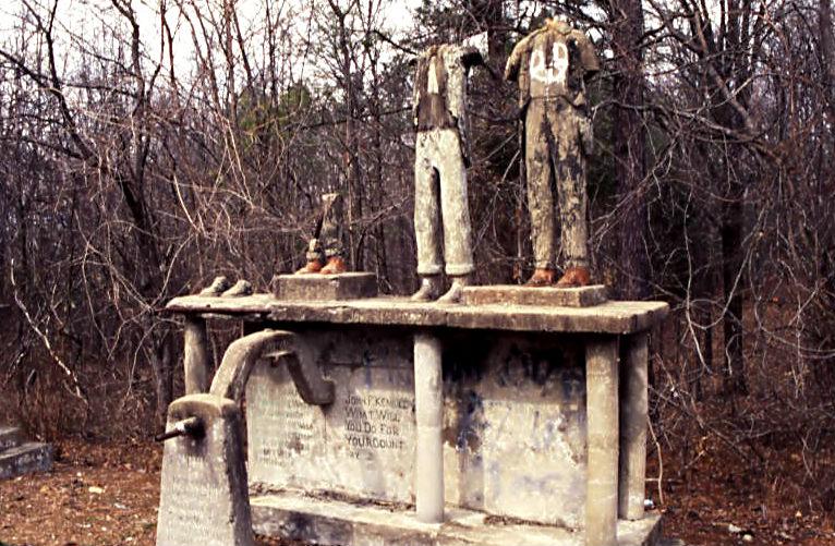ET_Wickham_roadside_park_and_Wickham_Cemetery_vandalized_statues_of_political_figures