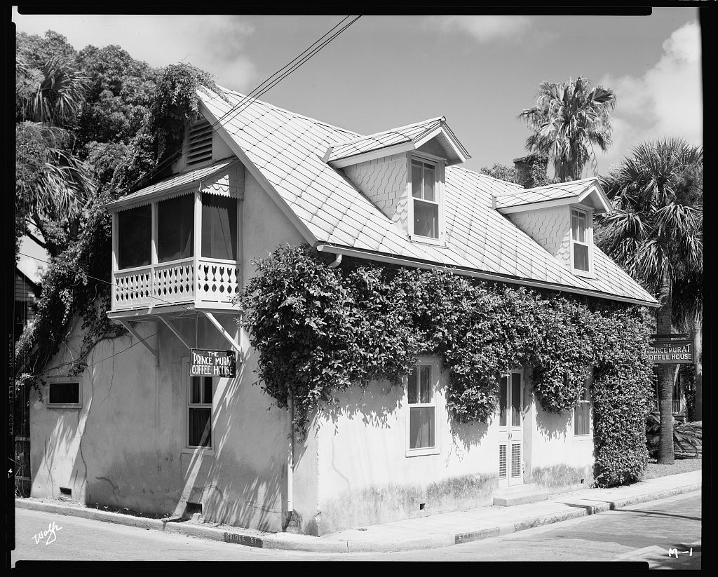 Prince Murat House, St. Augustine, St. Johns County, Florida 1938