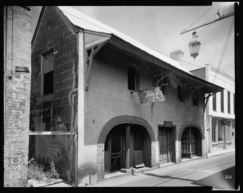 Spanish Inn, 43 George Street, St. Augustine, St. Johns County, Florida 1936-37